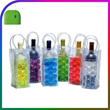 Clear PVC Ice Cooler Bag Champagne Plastic Wine Bottle Bubble Freezable Carrier