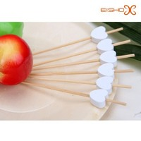 round flexible bamboo in china sticks white heart shaped bamboo sticks skewer for sale