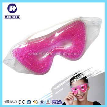 Smart bead pearl gel eye mask for hot cold compress