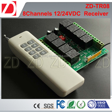 8 Channels long distance RF remote and receiver for automatic system