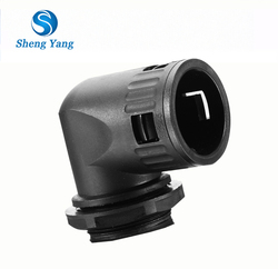 China Product Plastic Quick Connect Pipe Fitting 3/4 '' 90 degree