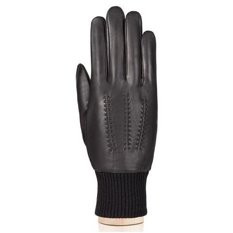 Mens leather gloves warm leather driving gloves with knit cuff