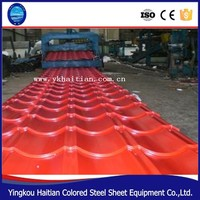 Low cost building materials corrugated Steel Sheet, Fireproof colored coated metal Roof Tile