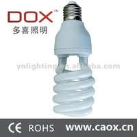 110v/220v 25w 2700k/4000k/5500k/6500 Half spiral energy saving light bulb