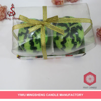 cheap decoration 2pcs watermelon shape candle