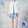 Yihao Hot New elegant Women's jackets short Slim midi sleeve leather patchwork jacket coat outwear