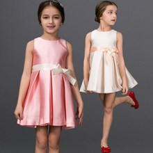 High Quality Simple Design Beautiful Party Dress For 2-6 Years Old Girls