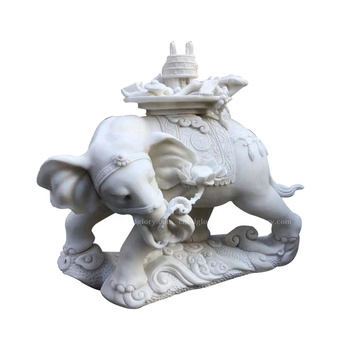 Stone Carved products natural Marble Auspicious elephant Statue