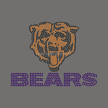 Hot Fix Bears Design Rhinestone Iron On Transfer For T-shirt