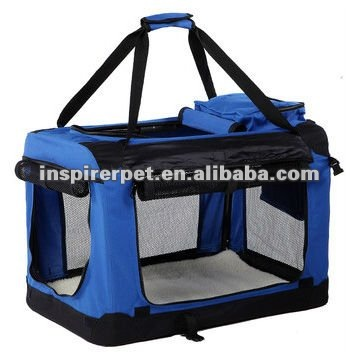BSCI Factory Audited Collapsible Pet Crate Soft Dog Crate with Curtain