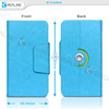 For 4.7 inch smartphone leather case ,360 degree rorating cover for 4.7 inch mobile