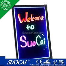 Outdoor animated flex hand writing led menu sign board for sale