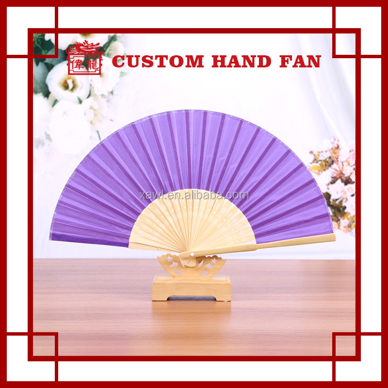 Cheap Plain Silk Wedding Invitations Favors Folding Hand fan GYS917- 4