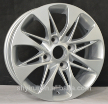 silvery wheel PCD 114.3mm car alloy with high performance
