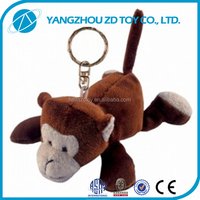 new style lovely fashionable soft plush monkey keyring