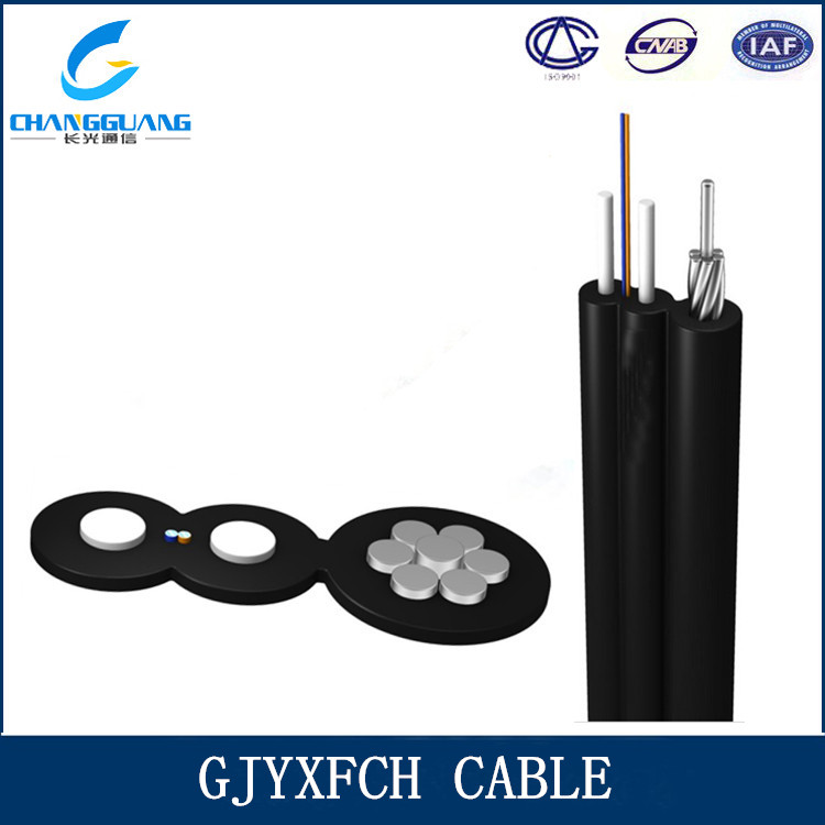Hot sales GJYXFCH drop ethernet cable self supporting OM3 Fiber Optic Cable
