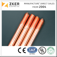 ISO Listed Electric Copper Weld Steel Grounding Earthing Rod