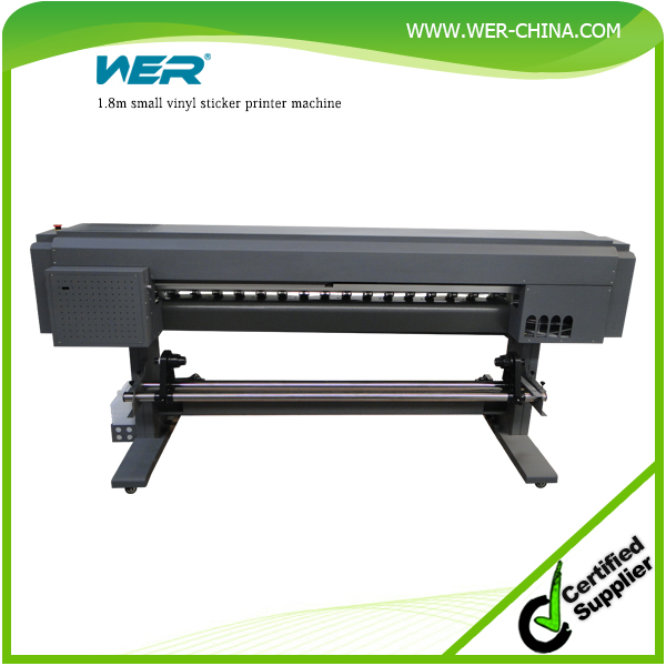 best selling 1.8m digital eco solvent printing machine WER ES1801 eco solvent printer, car sticker printing machine