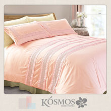 Polycotton 50% and 50% embroidered american style bedding set