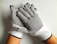 50-75g 10gauge computer machine PVC Dotted gloves for construction use