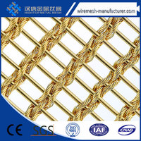 ( Trade Assurance)Al alloy Decorative metal mesh curtain/metal mesh drapery