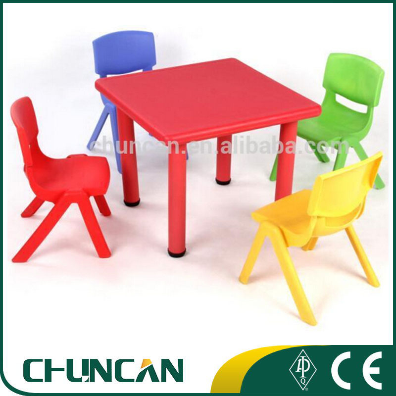 2017 Kids Plastic Table And Chair Set Children