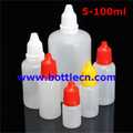 5ml 10ml 15ml 20ml 30ml 100ml empty plastic dropper bottles