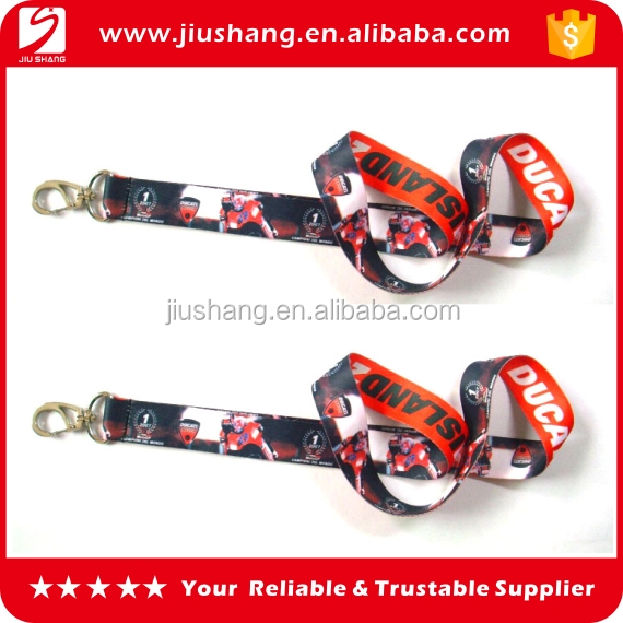 Personalized funny reflective nylon printed lanyards