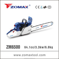 utility cutter 64.1cc ZM6500 3.3kw custom chainsaw parts with efficency chainsaw chain brake