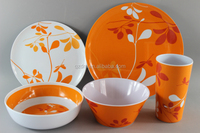 Melamine dinnerware sets Plastic plate and bowl and cup 3pcs