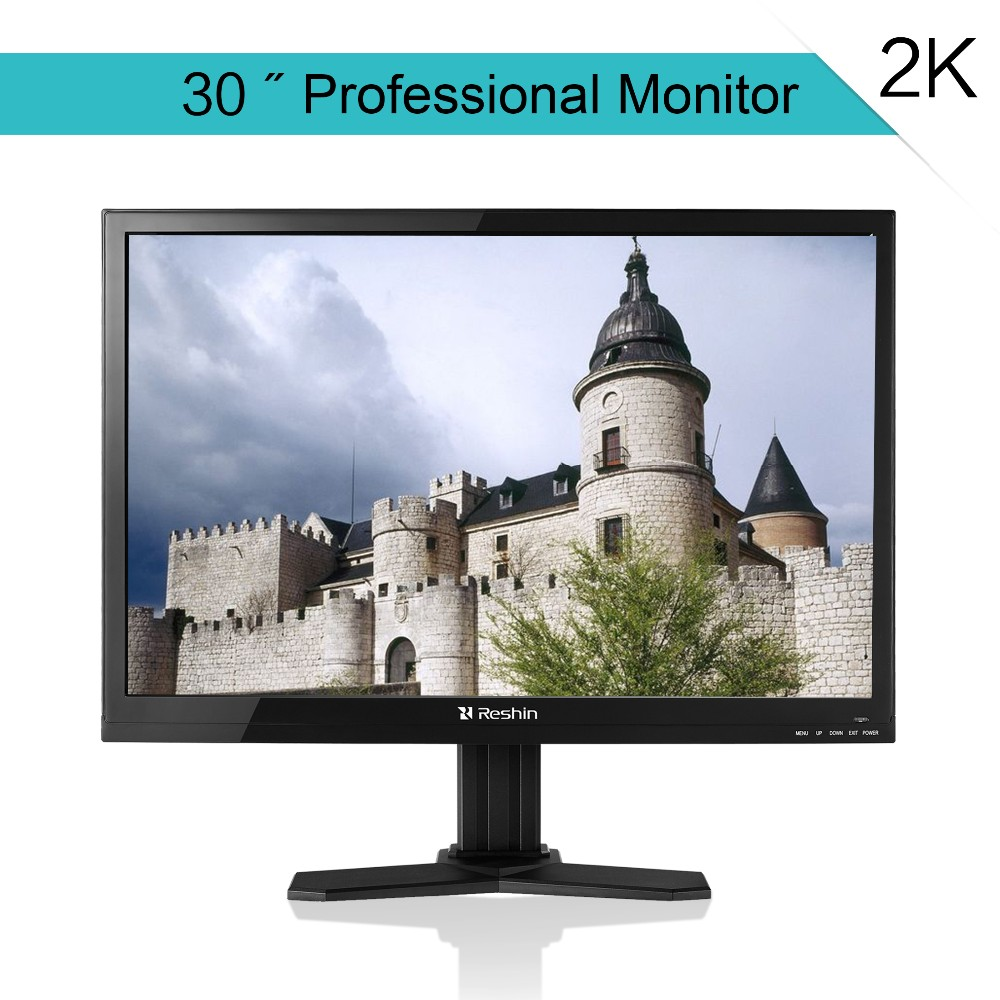30 inch large square lcd monitor with DVI, VGA, DP, av input, 2k resolution support wall mounted