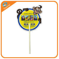 Promotional PP round hand fan