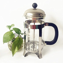 8 Cups Clear Glass Table French Press Coffee Tea Maker With Handle