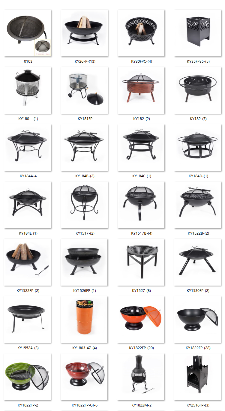 3 three foldable legs Folding fire pit firepits patio heaters