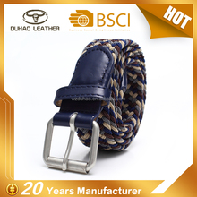 Custom Braided Elastic Stretch Woven Belt