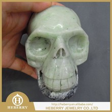 Natural Rock Crystal Skull Jadeite best home decoration good for our healthy
