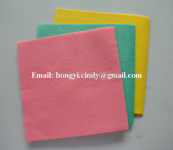 80%viscose, 20%polyester needle punched germany nonwoven cleaning cloth