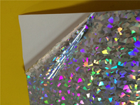 Polyester self adhesive holographic/hologram film roll