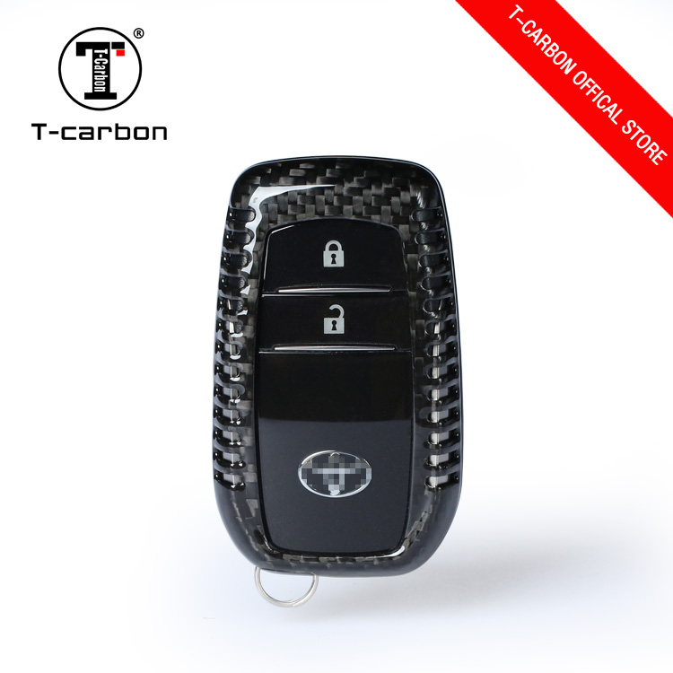 Carbon Fiber protect case Key cover box For Toyota