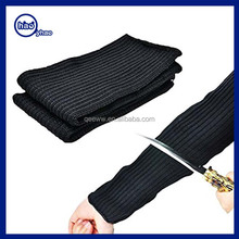 Hot Sale New Black Stainless Steel Wire Safety Anti Slash/Cut/Static Hands Long safety cut resistant kitchen arm knitted sleeves