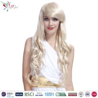 Styler Brand wholesale cheap women hair wigs natural looking kinky curly blonde wig