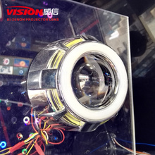 2015 Automotive Headlight New Bixenon Hid Projector Len Double Angel Eyes