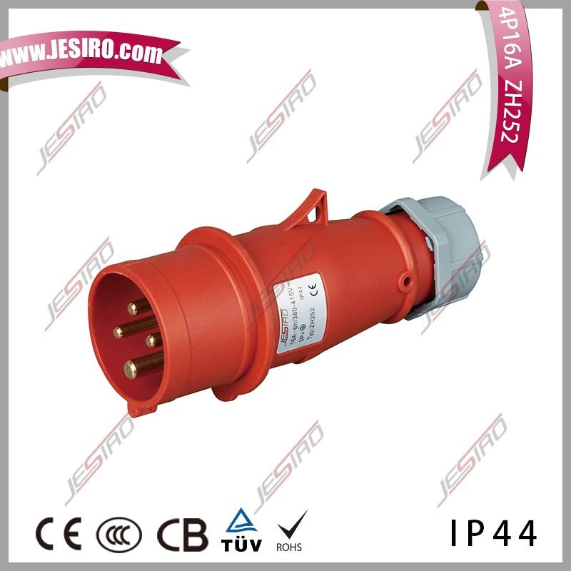 High-end Type 16A 400V IP44 4Pin 60HZ couplers sockets Plugs
