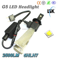 New arrival !!! G5 led headlight use copper metal for safety 20W moto H7 led headlamp with no fan dsign