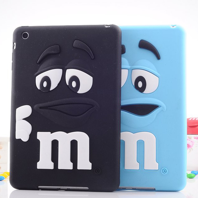 Cute M Bean Soft Silicone Shockproof Tablet Case for iPad 2 3 4