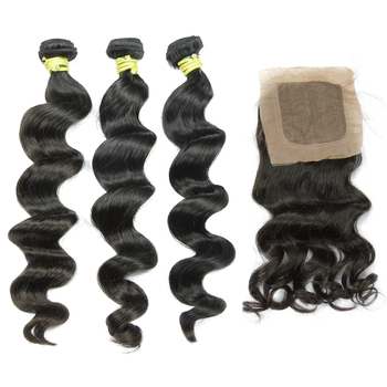 Brazilian loose wave virgin hair accessories for girls