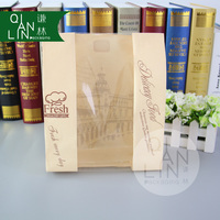 Custom To Go Brown Kraft Sandwich Paper Bag with Clear Window