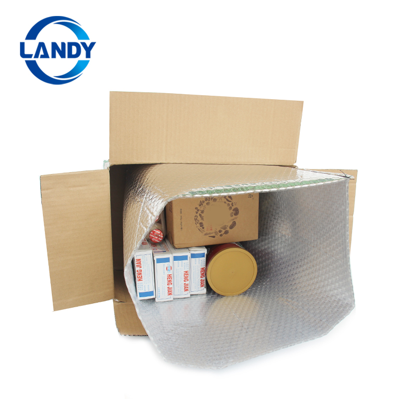 wholesale cold food insulated shipping 3d box liner gold aluminum foil box liner