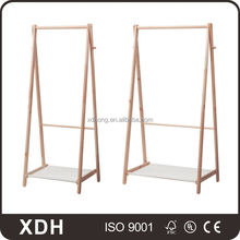 Ladder shaped clothing rack with shelves garment shop fittings display stand