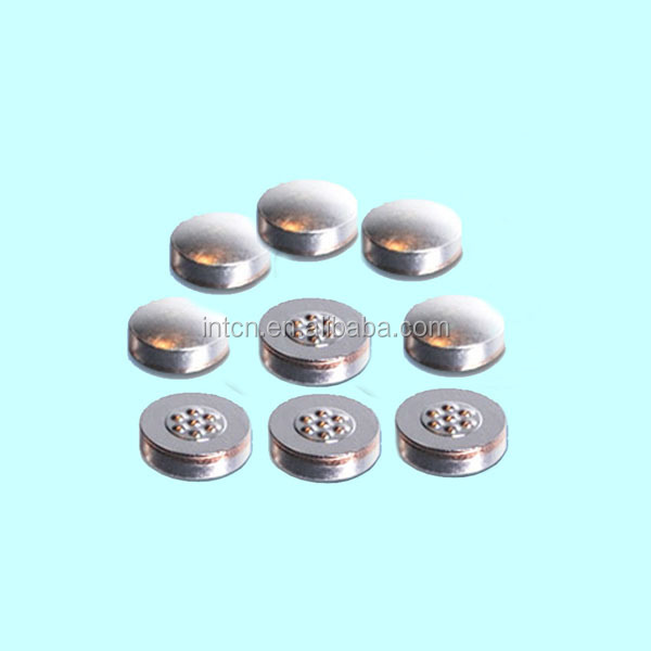 Silver copper steel trimetal welding button contact